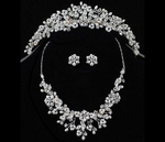 Freshwater Pearl Wedding Tiara and Necklace Set