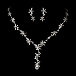 Garden Beauty - GORGEOUS CZ vine bridal necklace set