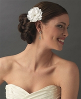 Georgette - Bridal flower hair clip - SALE!!