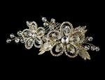 Georgia - Gold swarovski crystal hair comb - SALE
