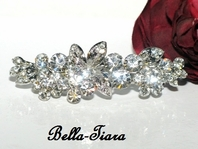 Gia - Beautiful Swarovski crystal floral hair barrette - SPECIAL!! Back in stock