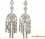 Giada - Dramatic Swarovski crystal chandelier wedding earrings - SPECIAL TWO LEFT