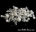 Gianina - Beautiful pearl and crystal wedding comb - Special