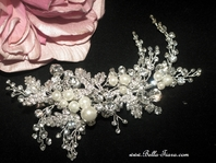 Gila - Stunning Swarovski crystal and peal bridal clip - SALE
