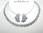 Gina - STUNNING CZ Cubic Zirconia vine bridal necklace set - SPECIAL!!