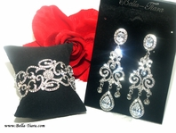 Gina - Vintage swirl high end bracelet and earring set - SPECIAL