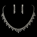 Giorgia - Dazzling rhinestone drops necklace set - SALE