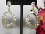 GLAM - Beautiful Gold Austrian crystal bold hoop earrings - SPECIAL!!!