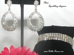 Glam - Sparkling hoop earrings and bracelet set - SPECIAL
