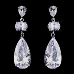 Glamorous and bold CZ earrings - Special!!