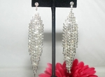 Glamorous and classic long chandelier rhinestone earrings - SALE!!