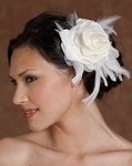 Glamorous bold feather bridal flower - Edward Berger 2167