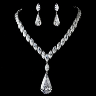 Glamorous Cubic Zirconium CZ Bridal Jewelry Set - SALE!!