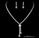 Glamorous elegant CZ drop wedding necklace set - Special