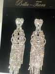 Glamorous long drop rhinestone chandelier earrings - SALE