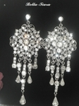 Glamorous swarovski  wedding chandelier earrings