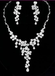 GLAMOUR - DAZZLING COUTURE BRIDAL CZ NECKLACE SET - SPECIAL one left!!!