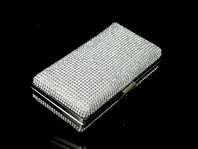 Gleaming full crystal elegant prom clutch evening purse -  SPECIAL!