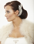 Glenna - Royal collection - Stunning off white pearl and crystal hair comb - Amazinlgy priced