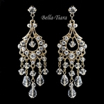 Gold wedding crystal chandelier earrings -SALE