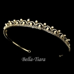 Golden fairy tale gold wedding tiara headpiece - sale