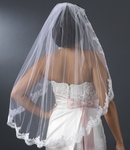 GORGEOUS Couture Mantilla style lace edge bridal veil