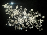 Gorgeous couture swarovski crystal wedding comb - SALE