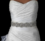 Gorgeous Crystal and ivory pearl wedding bridal sash - sale