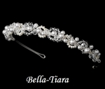 Gorgeous crystal and pearl communion headband - SPECIAL