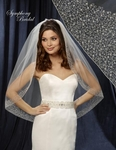 GORGEOUS crystal and pearl wedding veil - white SPECIAL
