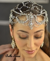 Designer Collection - Swarovki Crystal Head Wrap headpiece - BLOWOUT ONE LEFT