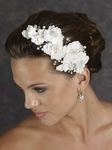 Gorgeous floral crystal beaded designer wedding headpiece - Edward Berger 2405