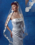 Gorgeous French Lace Mantilla Beaded Veil - SPECIAL ivory in stock - sold