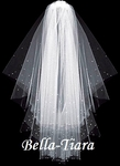 Gorgeous high end scattered crystal communion veil - SALE