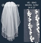 Gorgeous high end pearl crystal communion veil - SPECIAL