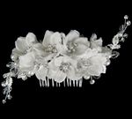 Gorgeous off white designer wedding hair flower comb
