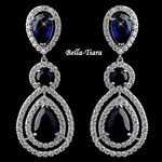 Gorgeous Sapphire Teardrop CZ Dangle Earrings