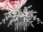 GORGEOUS Swarovski vintage vine Crystal Bridal hair Comb - SALE
