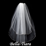 Gorgeous two tier rhinestone edge communion veil - SPECIAL