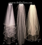 Gorgeous high end crystal first communion veil - SALE