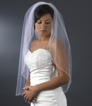 Gorgerous Crystal edge bridal veil