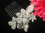 Grace- NEW!! AMAZING FLORAL crystal Bridal Comb - SALE!!