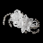Graceanna - Romantic flowers with freshwater pearl wedding comb - SALE
