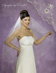 Graceful embroidered beaded floral edge - 5383