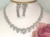 Grand - ELEGANT CZ COLLAR bridal necklace set - SALE!!