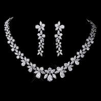 Grand - ELEGANT CZ COLLAR bridal necklace set - SPECIAL