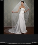 Hampton - Elegant silver crystal edge cathedral wedding veil - SPECIAL