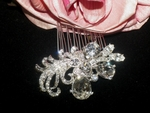 Hana - Beautiful vintage bold crystal bridal hair comb - SALE!!