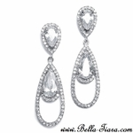 Hazel - Dramatic Cubic Zirconia Teardrop Earrings - SPECIAL