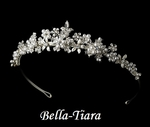 Heavenly pearl and rhinestone communion tiara - SPECIAL
